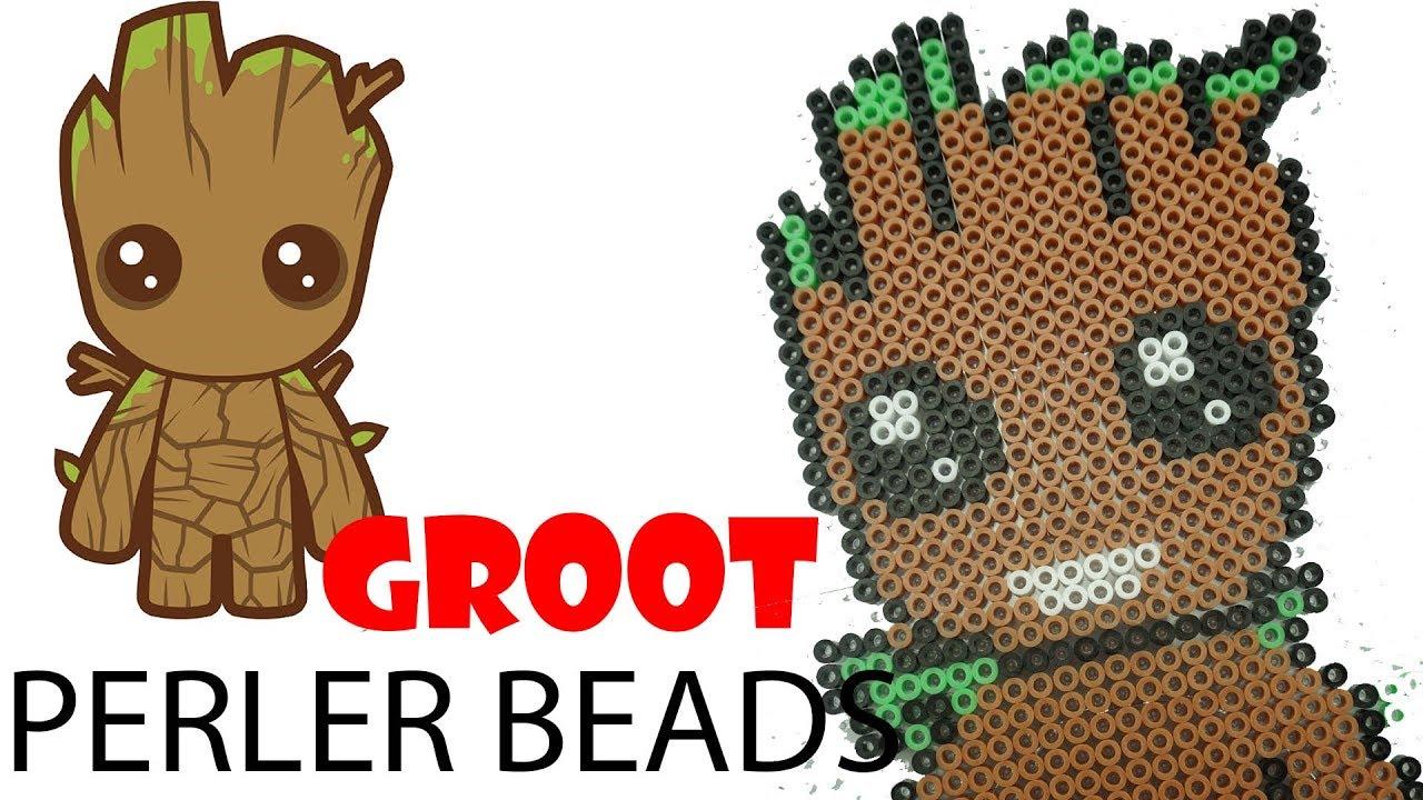 Groot Perler Beads Pixel Art