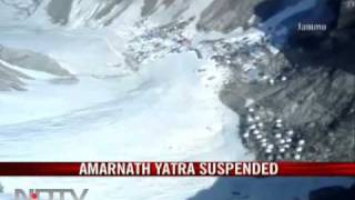Bad weather disrupts Amarnath yatra