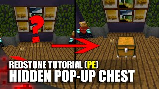 Minecraft PE Redstone: Hidden Pop-Up Chest!