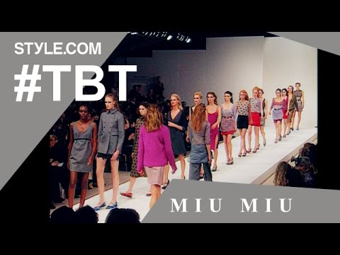 A Rare Interview with Miuccia Prada at the Fall 1997 Miu Miu Show- #TBT with Tim Blanks -Style.com