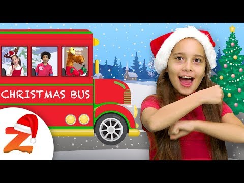 The Wheels on the Bus 🎅  | New Nursery Rhymes & Christmas Songs  for Kids