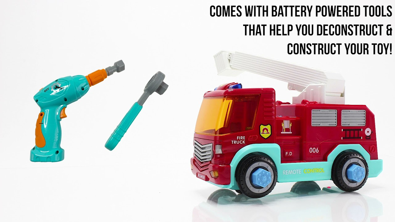 Build Your Own Fire Truck Engine Toy For Kids - TOP SELLING EDUCATIONAL TOY ON AMAZON FOR BOYS 2021