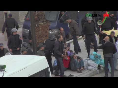 Human right violations by morocco against Saharawis demonstrators