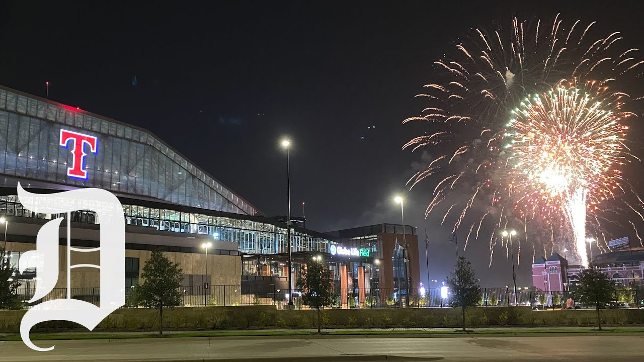 Arlington skies light up for 4th of July as fireworks set off near new Globe Life Field