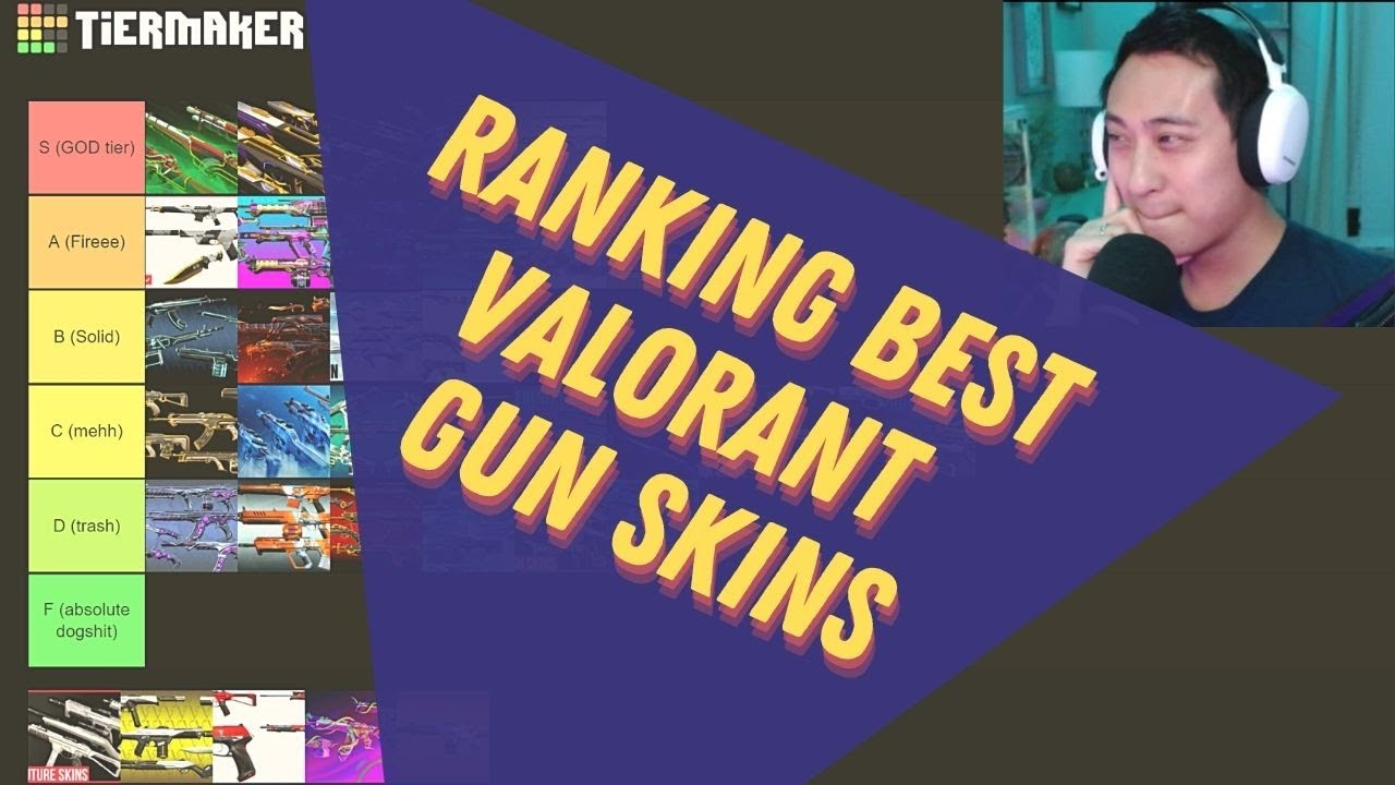 Download RANKING Valorant's GUN SKINS from BEST to Absolute WORST - Tier List!!