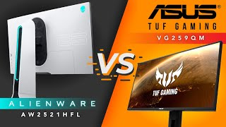 SUPER FAST 240Hz+ IPS BATTLE! - Alienware AW2521HFL VS. ASUS VG259QM