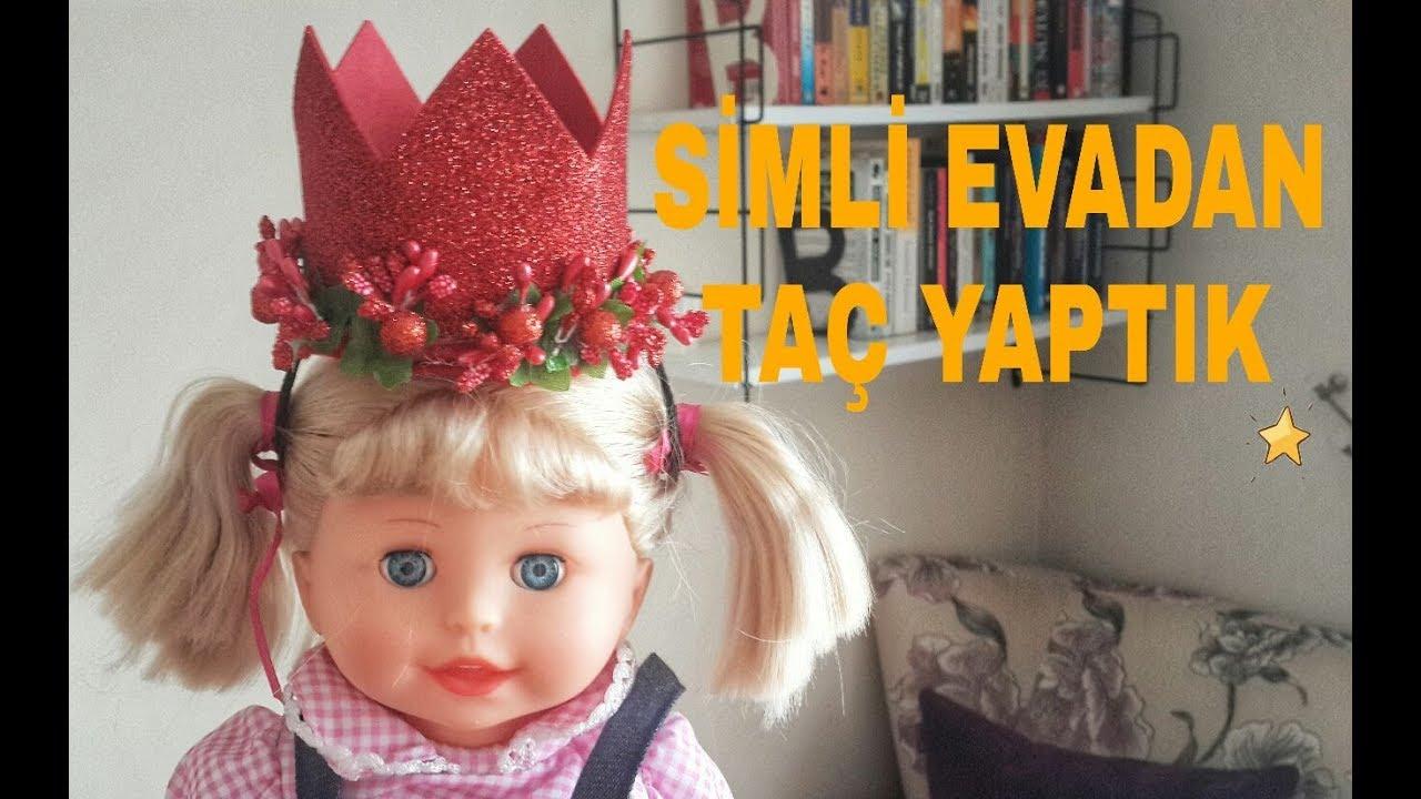 Simli Eva Kagidindan Neler Yapilir 1 Prenses Taci Yapimi