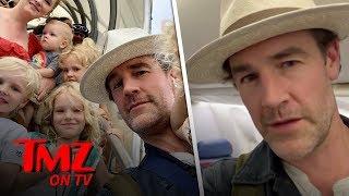 James Van Der Beek Has A Flight From Hell | TMZ TV