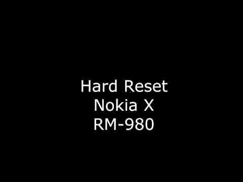 Сброс настроек Nokia X RM 980 (Hard Reset Nokia X RM-980)
