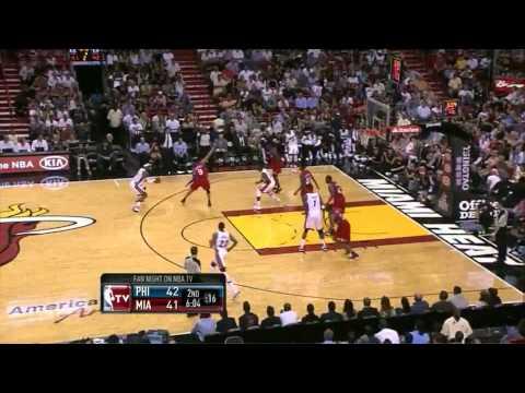 Lebron James season high 41 point vs Philadelphia full highlights 76ers 04.03.2012