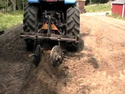 Part 1 Home Made Tractor Attachment Hiller Row Bed Maker