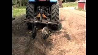 Repeat youtube video Part 1 - Home made tractor attachment hiller row bed maker planting potatoes