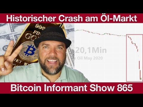 #865 Bitcoin BTC ist Narrengold, Facebook Calibra Expansion & Historischer Crash am Öl Markt