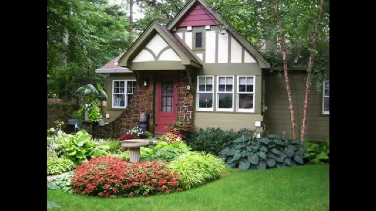 Small Front Yard Landscape Ideas Part - 16: [Garden Ideas] Landscape Ideas For Small Front Yard Pictures Gallery -  YouTube