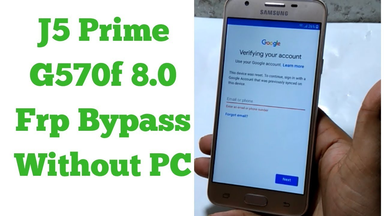 Samsung J5 Prime G570f 8 0 Frp Bypass Without Pc 100 Ok Methad