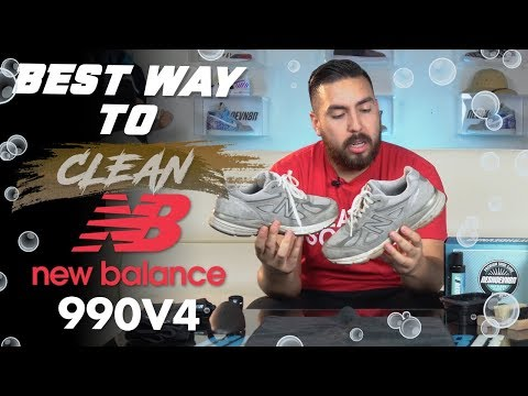 The best way to clean Suede New Balance 990v4 with Reshoevn8r