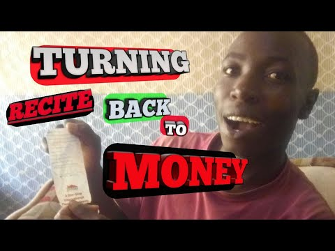 How to Turn Recite back to cash