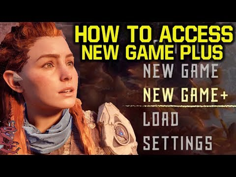 Horizon Zero Dawn - CANT ACCESS NEW GAME PLUS? WATCH THIS! (Horizon Zero Dawn New Game Plus)