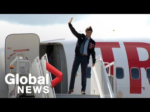 Trudeau departs Ottawa to begin re-election campaign