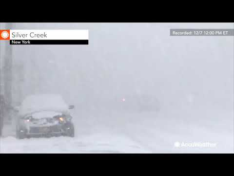 Intense lake-effect snow continues in western New York