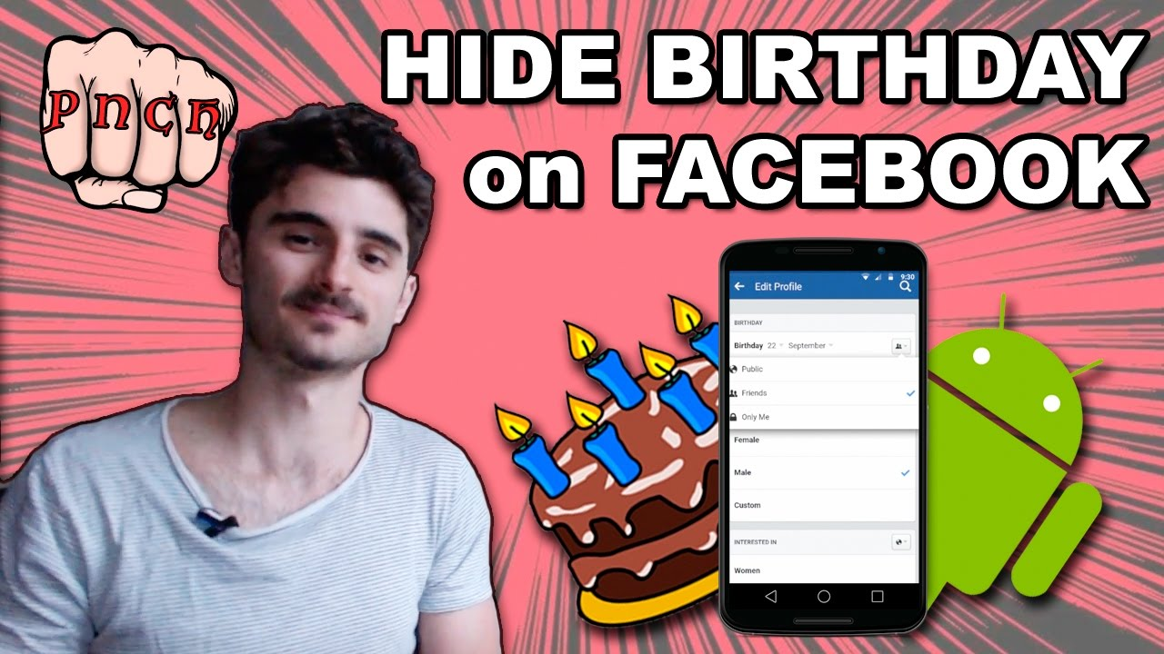 Hide Birthday in Facebook on Android Mobile Phone with Voice Over