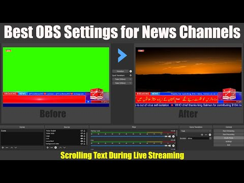 Best OBS Studio Settings For News Channels   Scrolling Text During Live Streaming