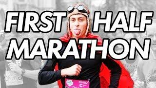 Running and vlogging my first half marathon! (Cambridge Half Marathon)