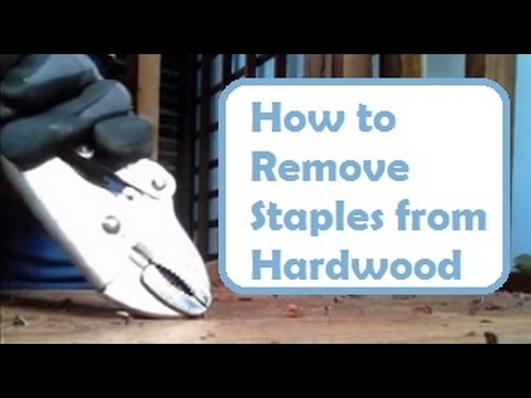 Repairing Old Floors How To Remove Nails And Staples From