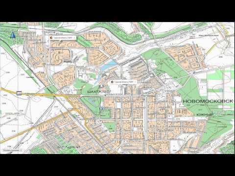 Топографическая карта Тульской области для Garmin