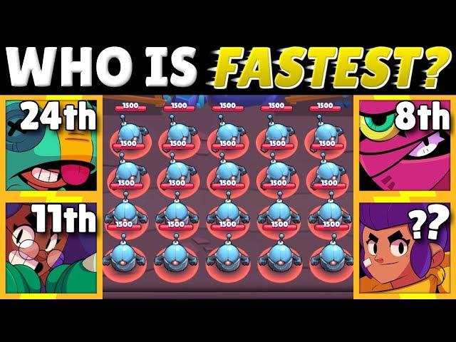Brawl Stars OLYMPICS! | The SWARM Test! | Which Brawler Finishes Fastest?!