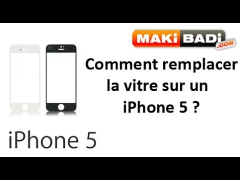 comment remplacer la vitre d 39 un iphone 5 youtube. Black Bedroom Furniture Sets. Home Design Ideas