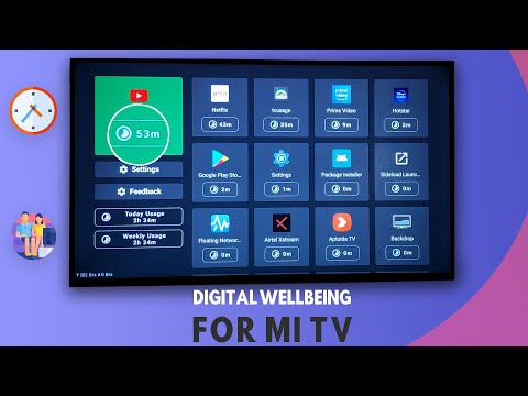 ENABLE Digital Wellbeing Like Feature on Mi TV - Android Smart TVs 🔥