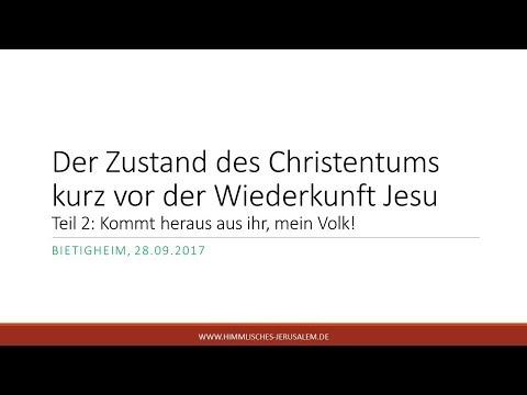 Der Zustand des Christentums kurz vor der Wiederkunft Jesu
