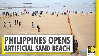 Philippines opens artificial white sand beach on Manila Bay | World News | WION News