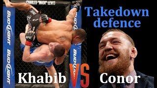 How Conor defends Khabib's takedowns - MMA Breakdown