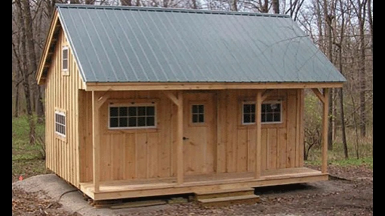 DIY Low Price Guarantee - Build or Buy 16X20 Cottage - Cabin - Tiny House  With Large Exterior Porch