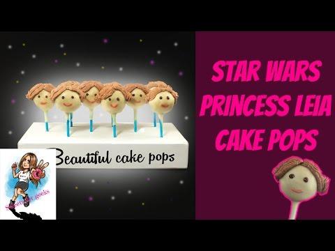 PRINCESS LEIA STAR WARS TIRAMISU CAKE POPS / HOW TO MAKE STAR WARS CAKE POPS /ENGLISH