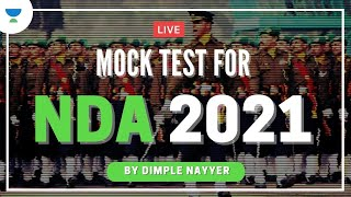 Live Mock Test: English for NDA/Airforce X Group 2021 Exam | English by Dimple Nayyer