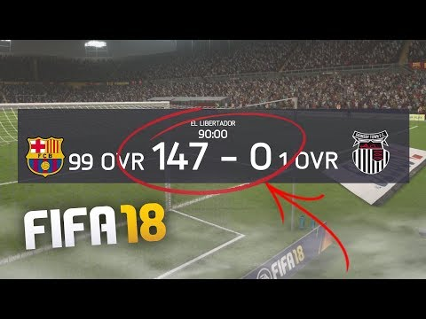 WHAT HAPPENS WHEN A 1 OVR TEAM PLAYS A 99 OVR TEAM ON FIFA 18?!   FIFA 18 EXPERIMENT