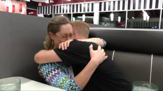 Repeat youtube video Military Mom gets Birthday Surprise from Navy Son on Leave