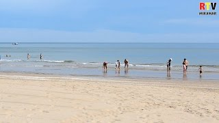 La platja de Miramar, a punt per a les vacances de Setmana Santa