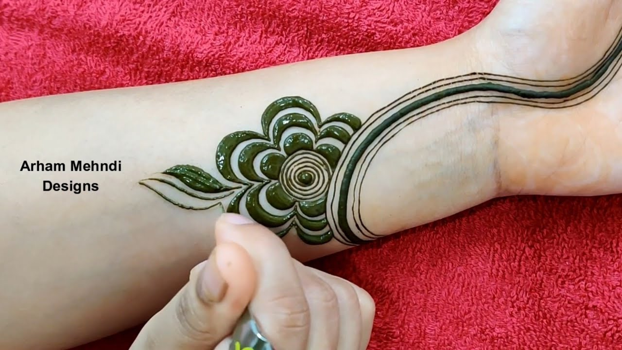 mehndi designs for front hand easy