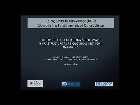 Theoretical Foundations & Software Infrastructure for Biological Network Databases