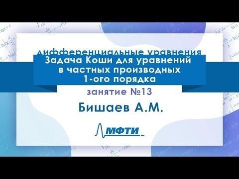 Лекция №13 по ДУ. Задача Коши для уравнений в частных производных 1-ого порядка. Бишаев А. М.