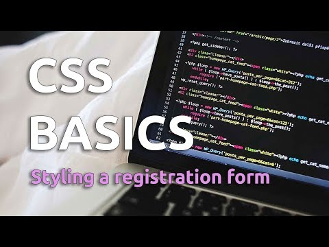 CSS Basics - Styling A Registration Form (Tutorial)