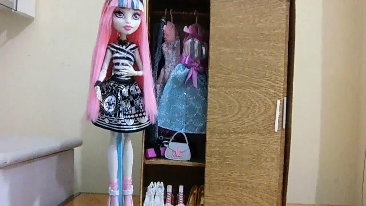 Muitas vezes Como fazer guarda-roupa com porta de correr para boneca Monster  VT82