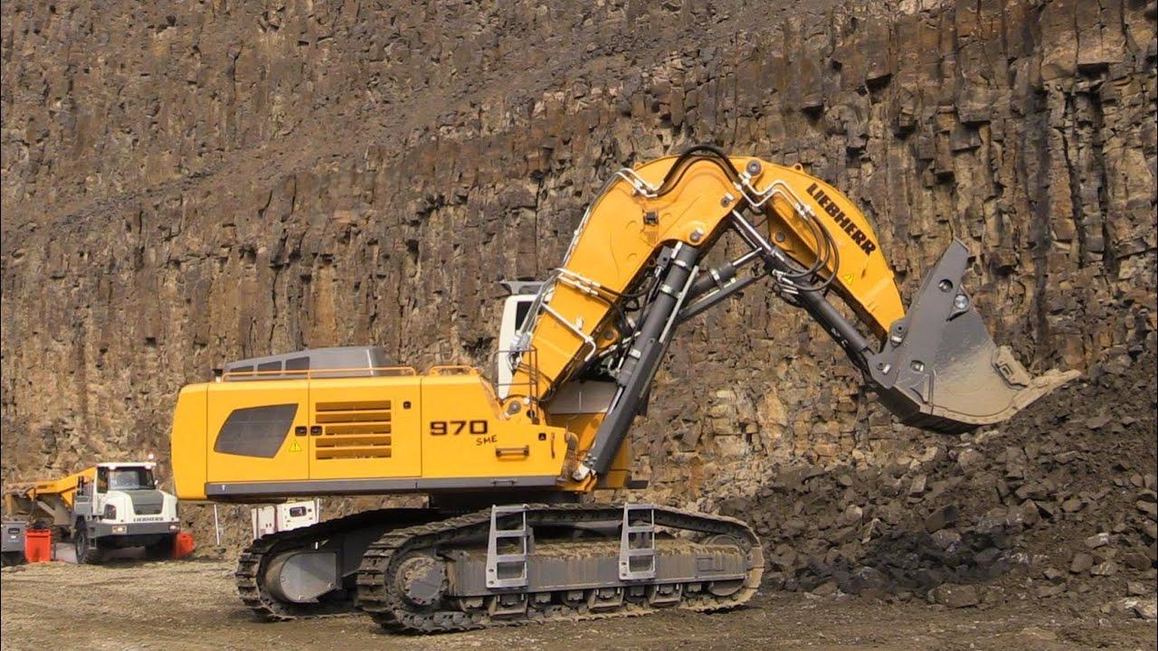 Liebherr R970 Sme Front Shovel Excavator Loading Liebherr