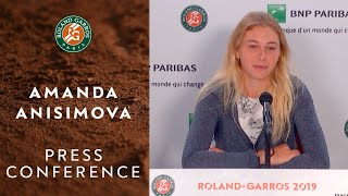 Amanda Anisimova - Press Conference after Quarterfinals | Roland-Garros 2019