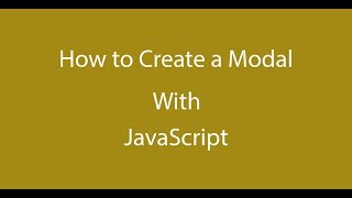 How to Create a Modal with Pure Vanilla JavaScript - Part 1