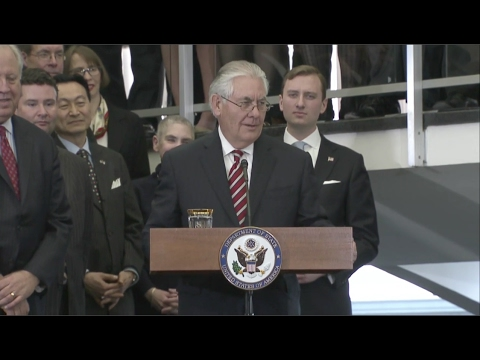 Secretary of State Tillerson Addresses State Department